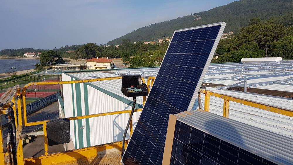 Paneles fotovoltaicos sobre cubierta
