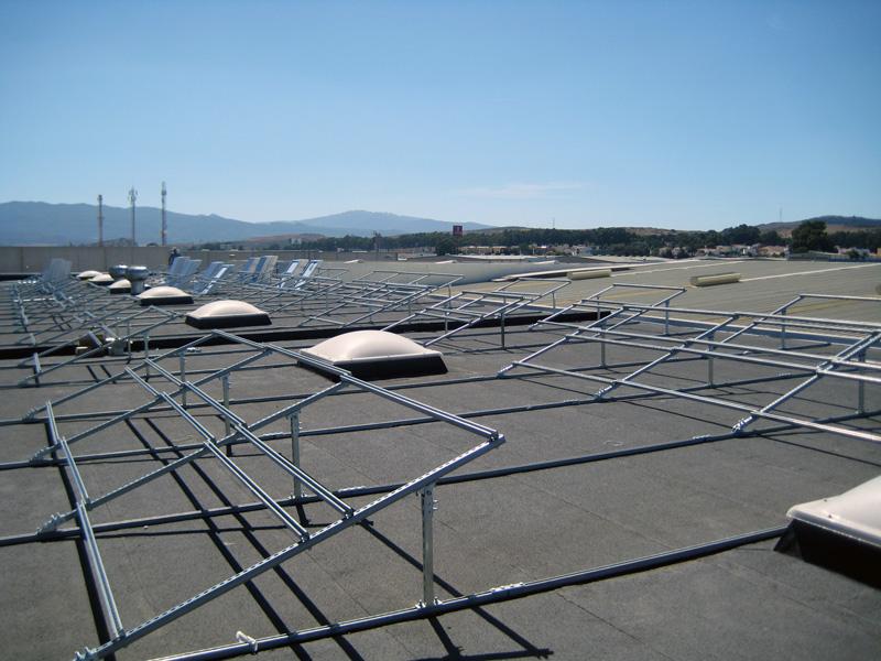 Estructura fotovoltaica inclinación 30 grados
