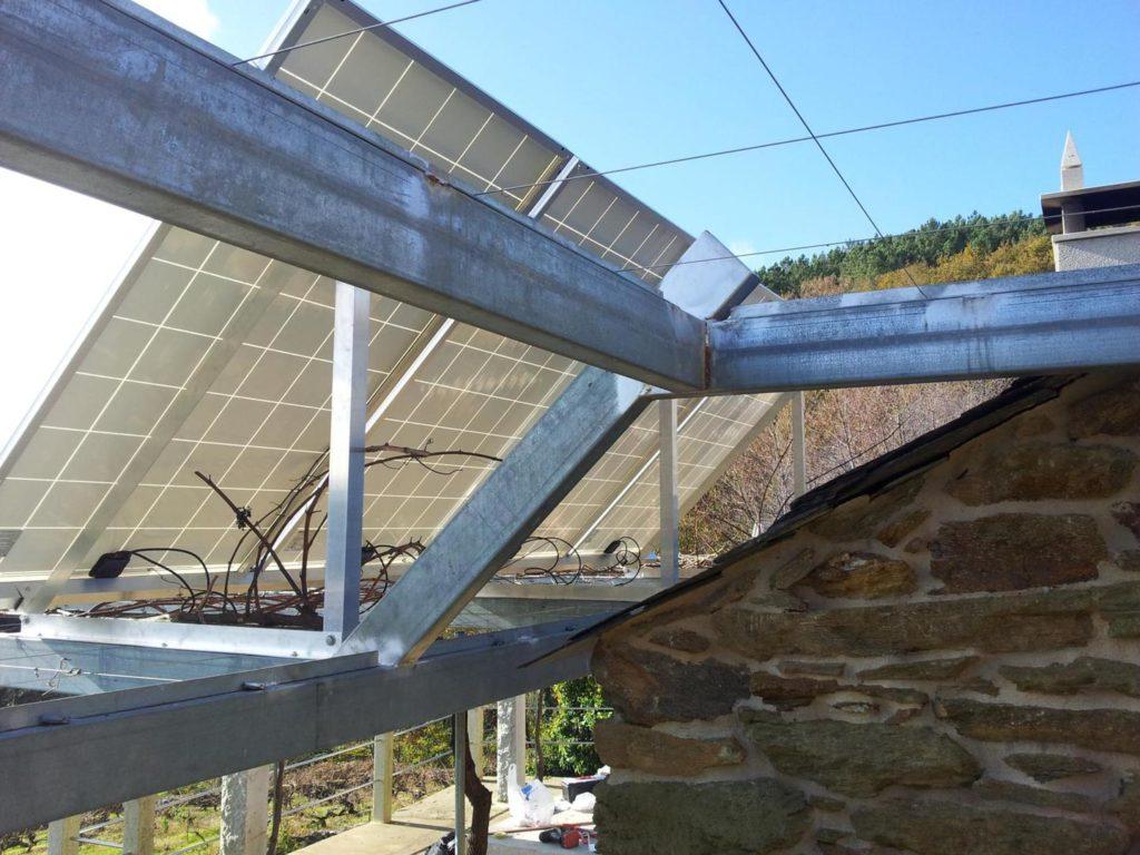 Placas solares y estructura de aluminio