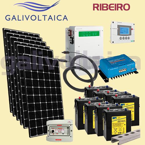 Placas solares monocristalinas y baterías de Gel