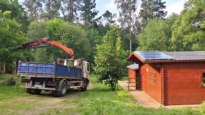 Cabañas con paneles fotovoltaicos